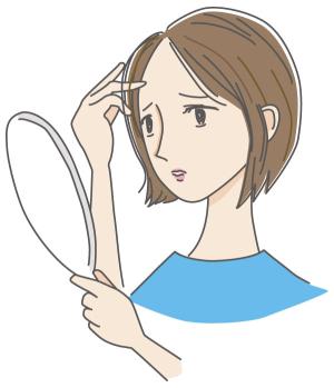 気になる女性の薄毛の話